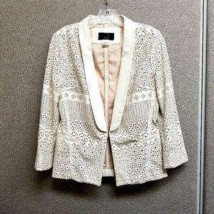 ANTHRO DOLCE VITA faux leather blazer jacket